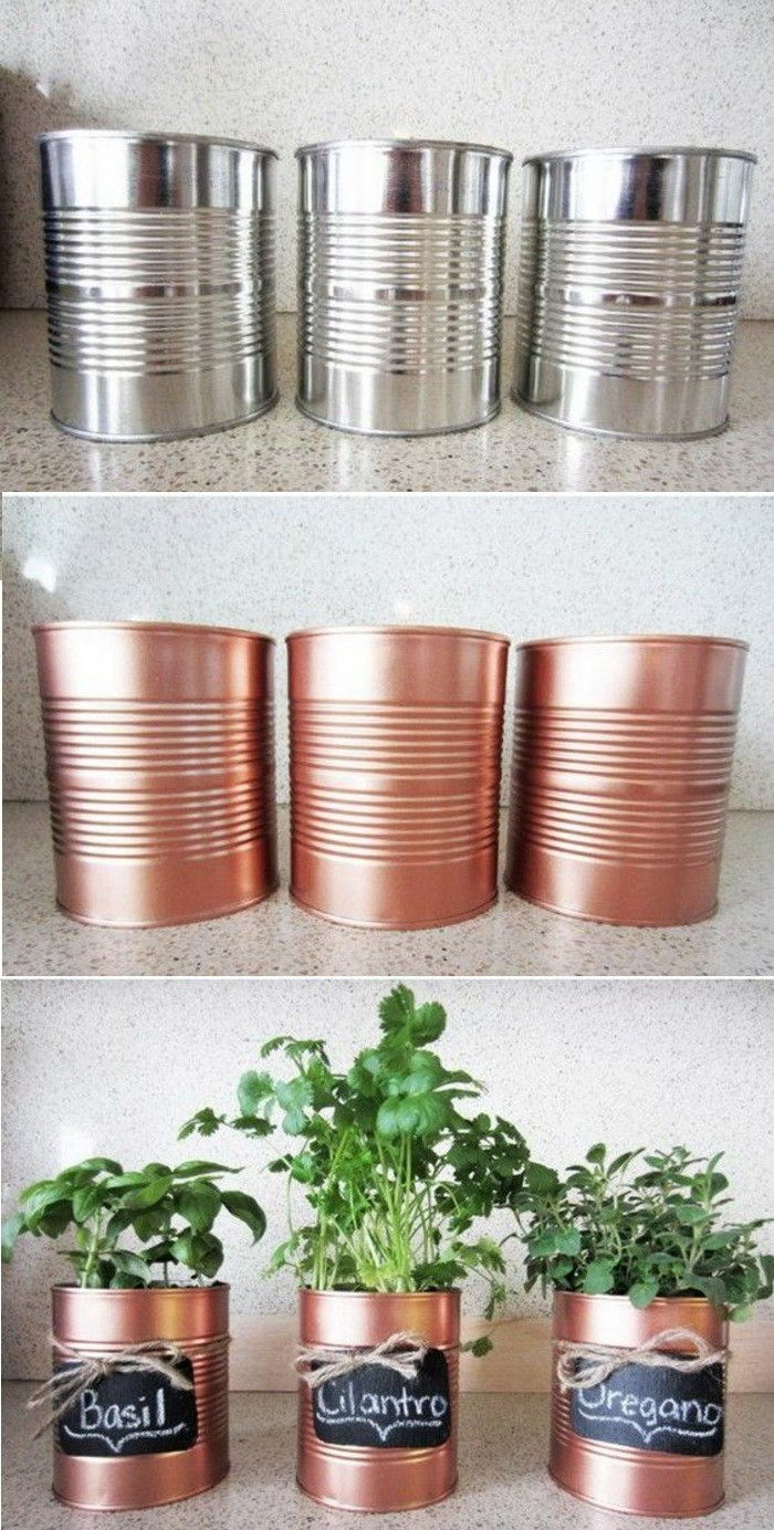 6-tinker-with-cans-Pots-green-plant-diy-golden-spray