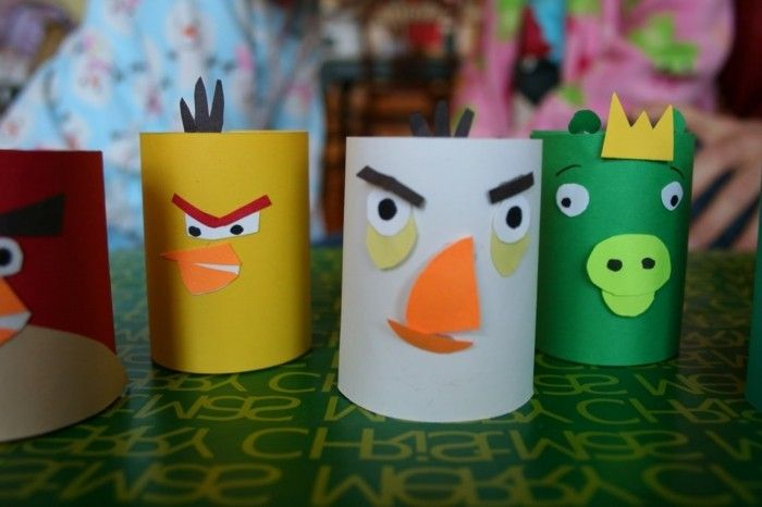 Craft Ideas-with-toilet rolls-from-Angry-Birds