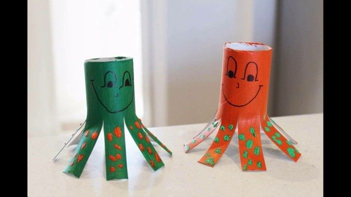 Craft Ideas-with-toilet rolls Two-easier-Achtfüßler