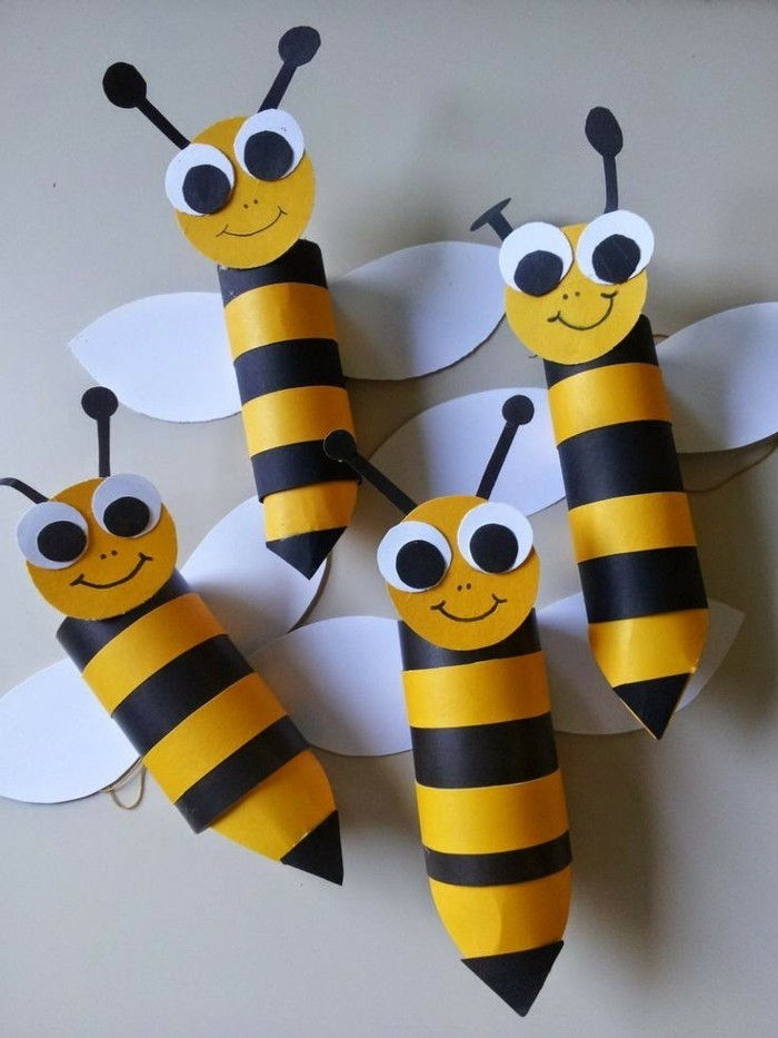 Tinker-with-toilet rolls Funny Bees