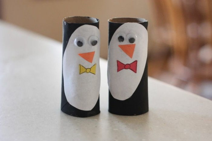 Tinker-with-toilet rolls Two penguin