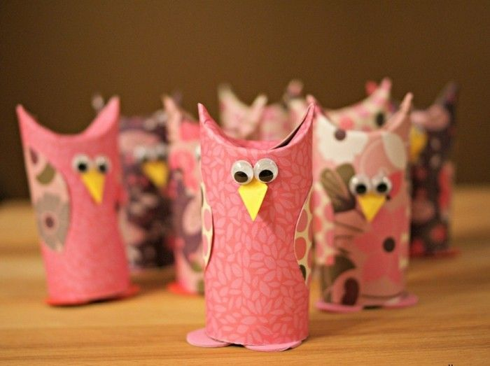 Working creatively Owl-in-pink color