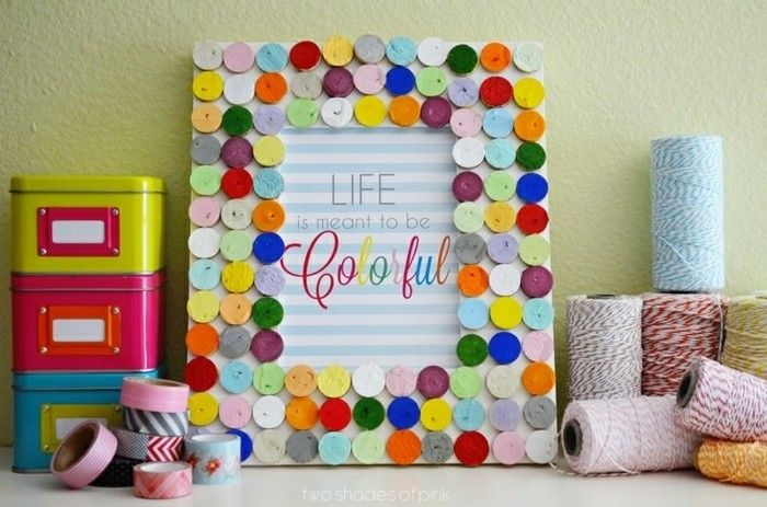 Picture Frame itself-make-very-colorful