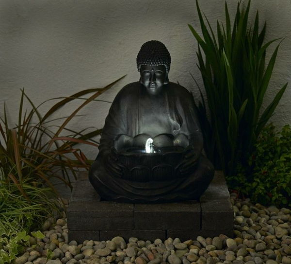 asked Buddha Fountain in exotic-garden-