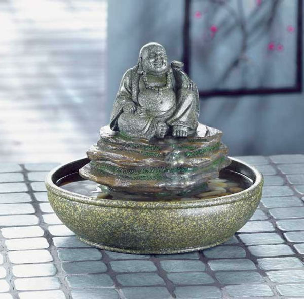 Buddha Fountain with Round-shape