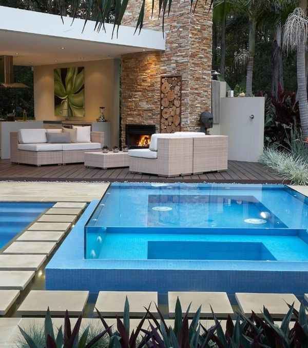 The garden a-modern-Jacuzzi-make-with--