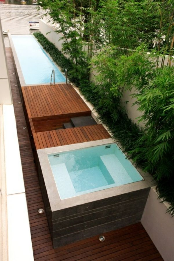 The Garden with-a-great-Jacuzzi-make-modern design