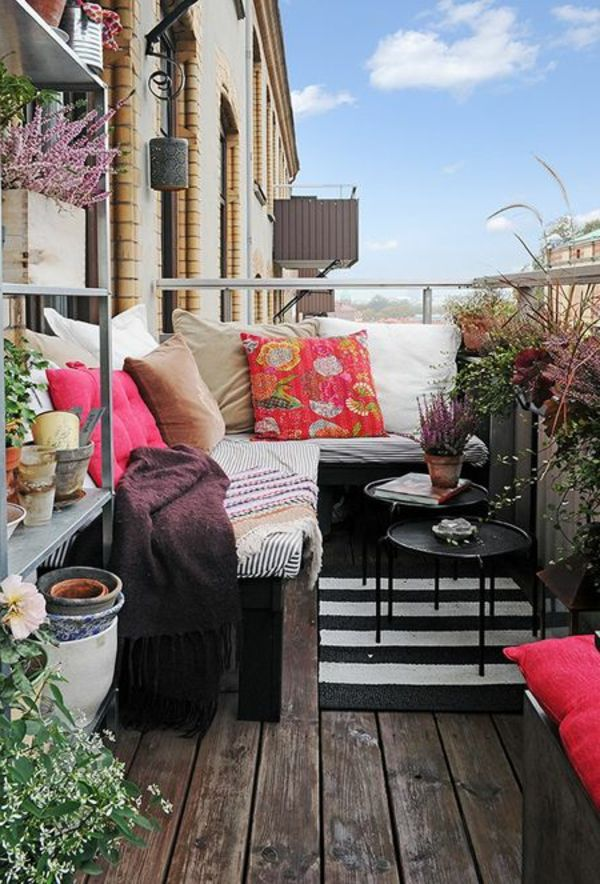 Corner seat-of-the-balcony-beautiful facility-with-pillows