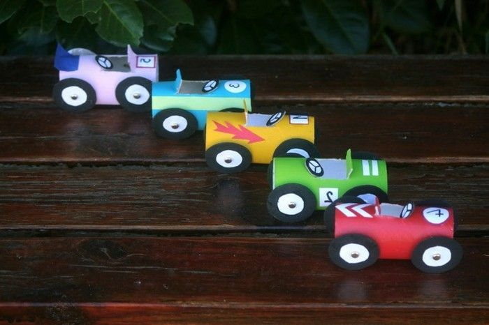 Easy-Bastelideen game cars-in-different-color