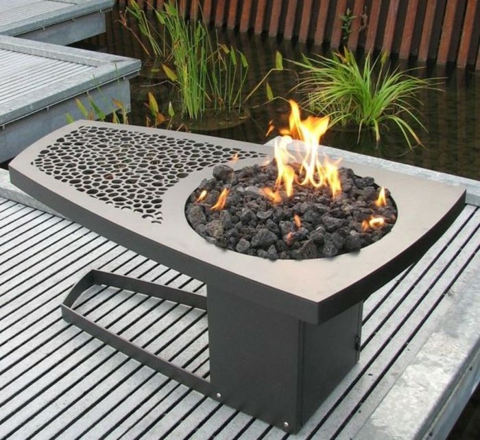 Fire bowl-with-grill-too-table-and-fire