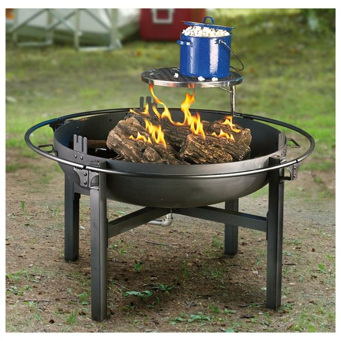 Fire bowl-with-wood grill