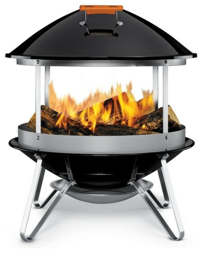 Fire bowl-with-modern-Grill