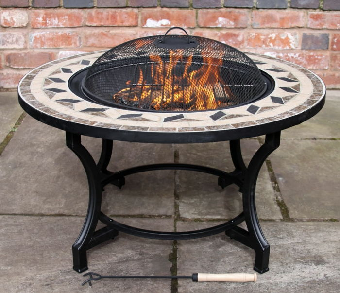 Fire bowl-with-grill mozaik