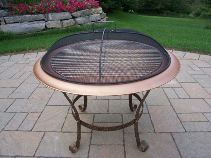 Fire shell with Grill oval-covering