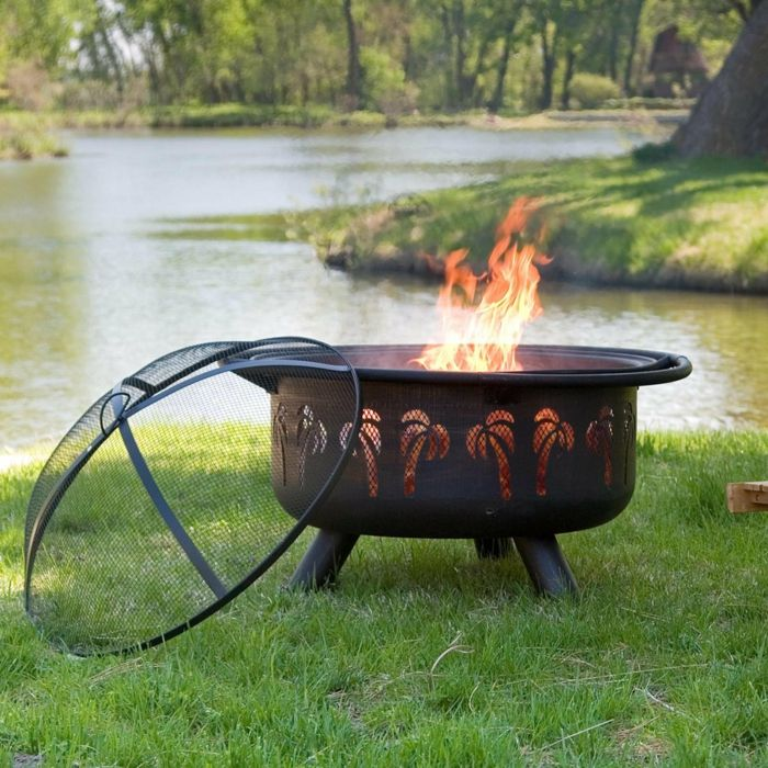 Fire bowl-with-grill-palm-and-fire