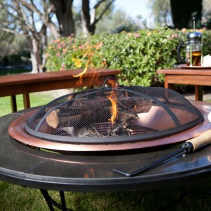 Fire bowl-with-red-Grill