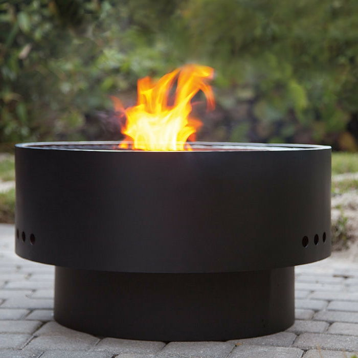 Fire bowl-with-black-and-grill-stable