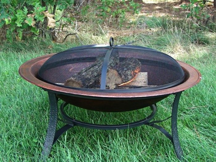 Fire bowl-with-grill-traditional