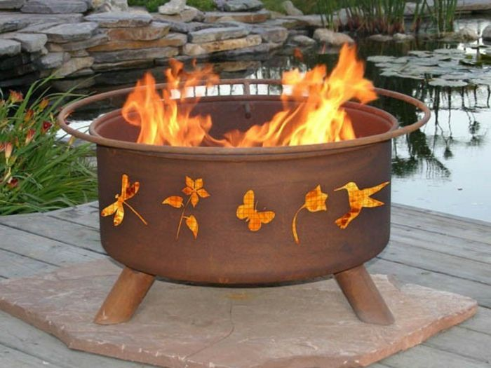 Fire bowl-with-grill-tropical-with-motives
