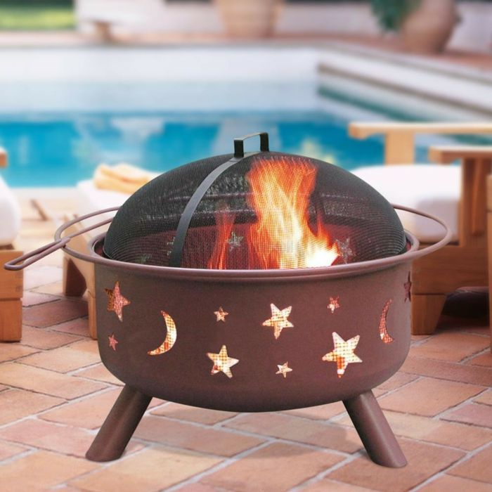 Fire shell with grill and-sternchen-design