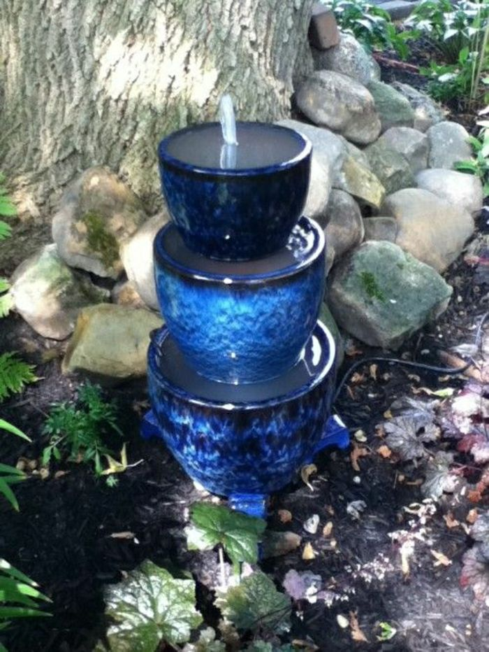 Garden Relaxation Blue Fountain