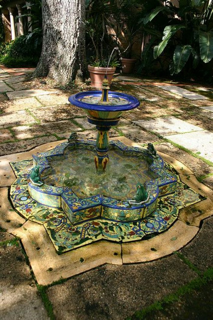 Garden Court Talavera water fountain