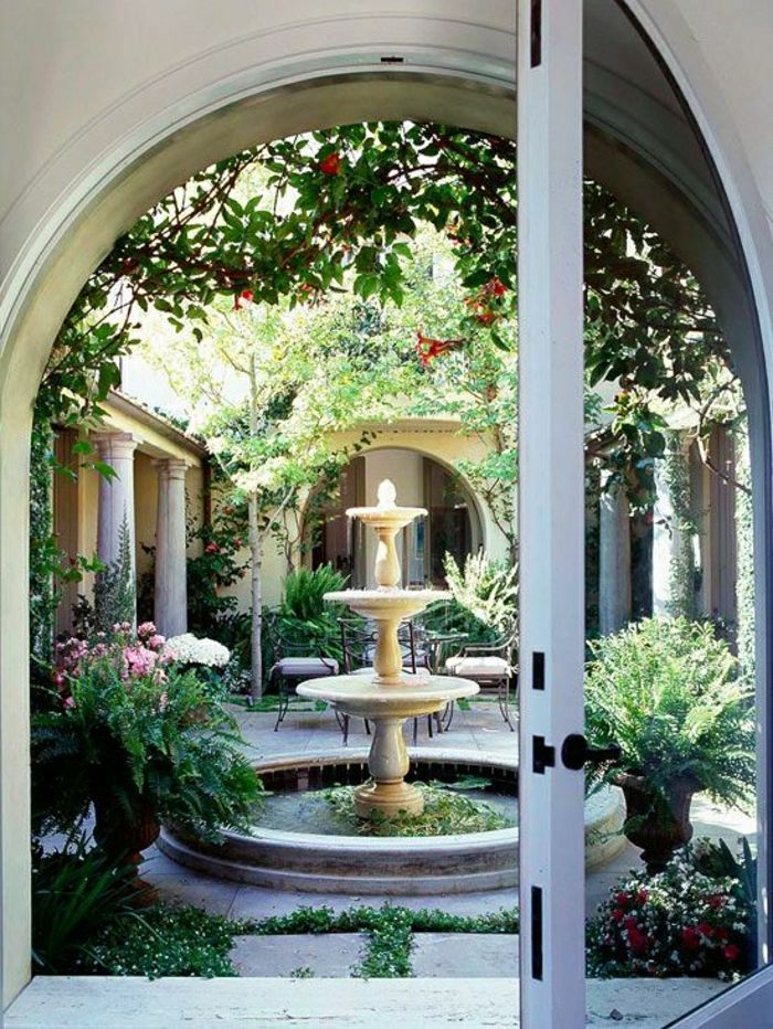 Garden Court elegant water fountain