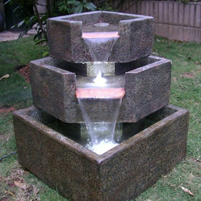 Garden Solar Fountain three-stage