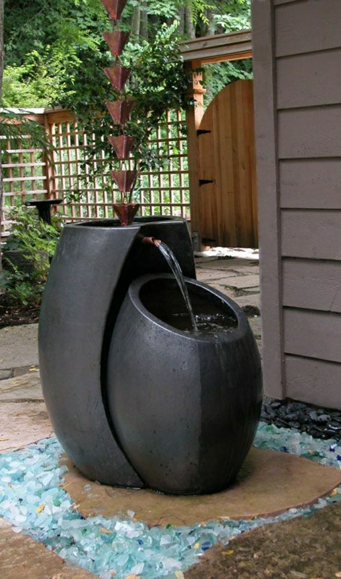 Garden Fountain rainwater creative design