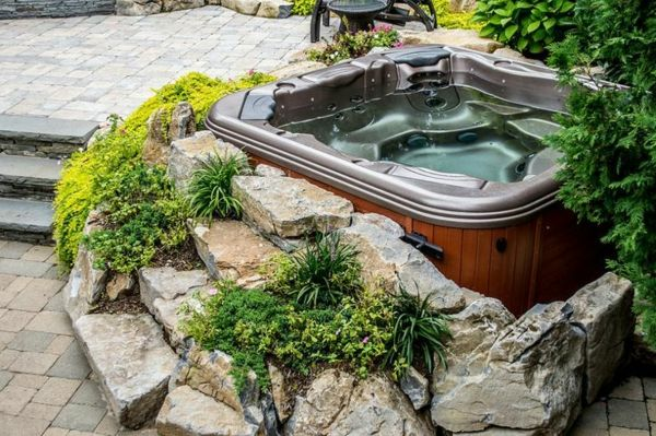 -Gestaltungsideen-by-the-perfect-garden with Jacuzzi - Whirlpool