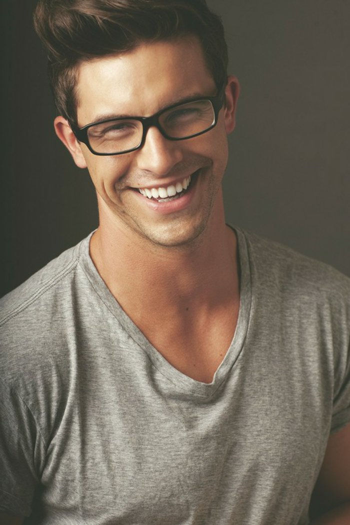 Hipster Glasses-simple-model handsome man