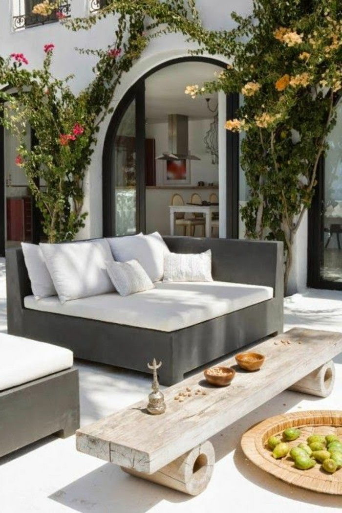 Ideas-garden design-modern-coffee table-of-wood