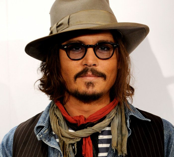 Johnny Depp glasses Clothes Hat-hipster-style