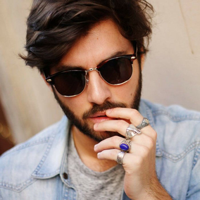 Man Hipster Glasses-extravagant rings