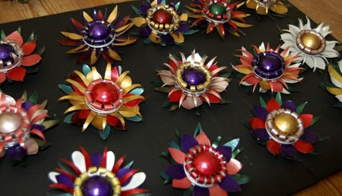 jewelry-from-nespresso capsules-as-magnificent Cathedral of Flowers