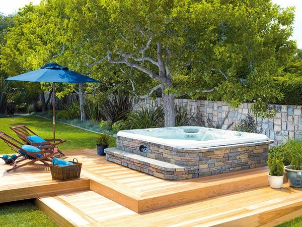 Spa-great ideas-for-the-design-of-a-perfect-garden-with- - Jacuzzi