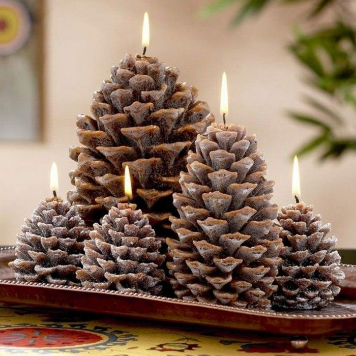pinecone med-pinecone-adventskranz-med-lys-of-jule-