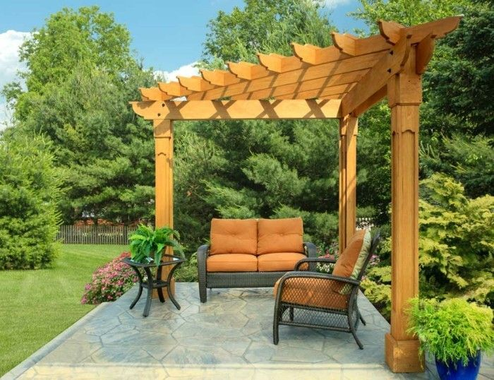 attractive-model-pergola-of-wood-beautiful-green-environment-in-garden