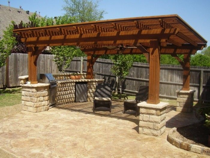 attractive-model-pergola-of-wood-wonderful-natural environment