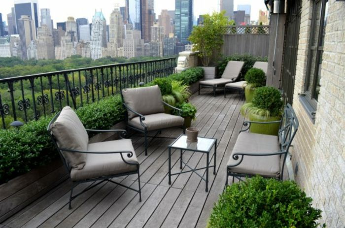 balcony-flowers-gray-furniture pieces