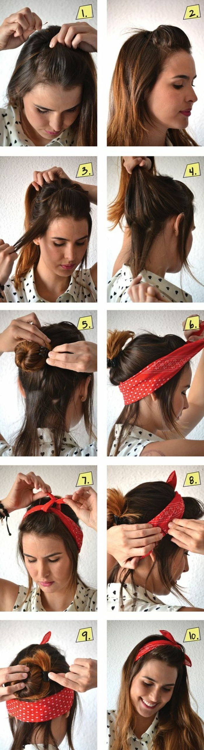 hairstyles with hairband to make yourself, medium-long, brown hair