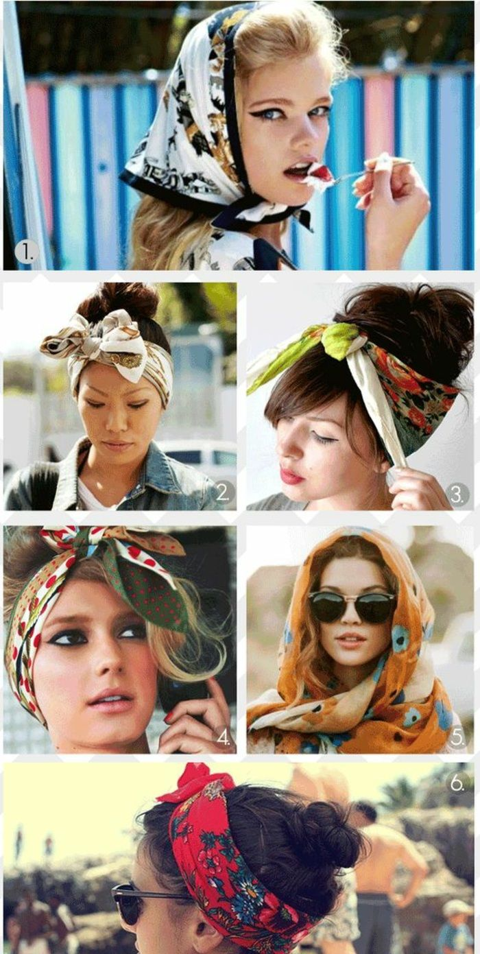 women with updos with bandana, everyday hairstyles
