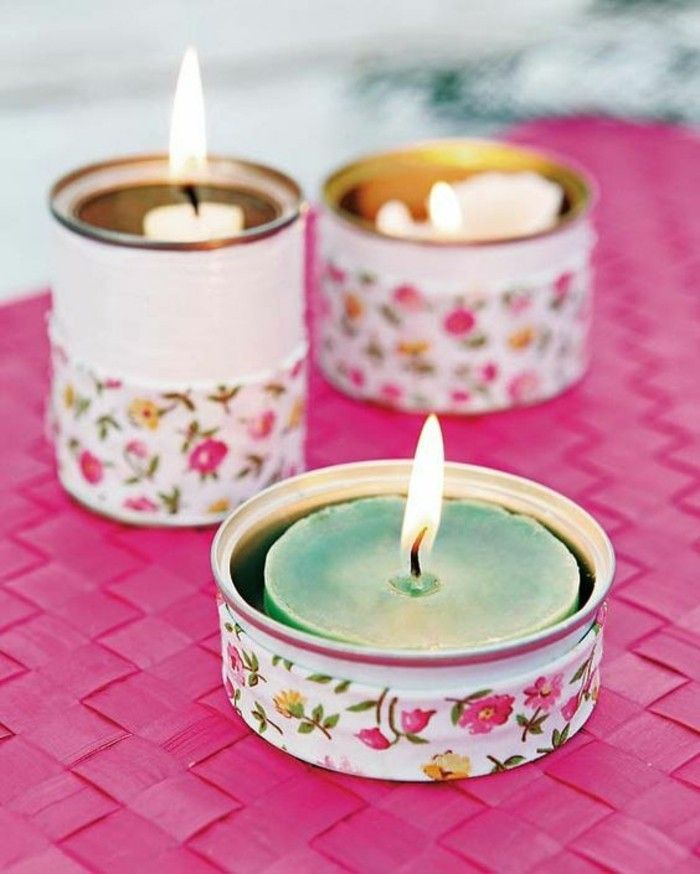 tinker-with-tin cans and white-cans-washy tapes Candles-candle holders-diy