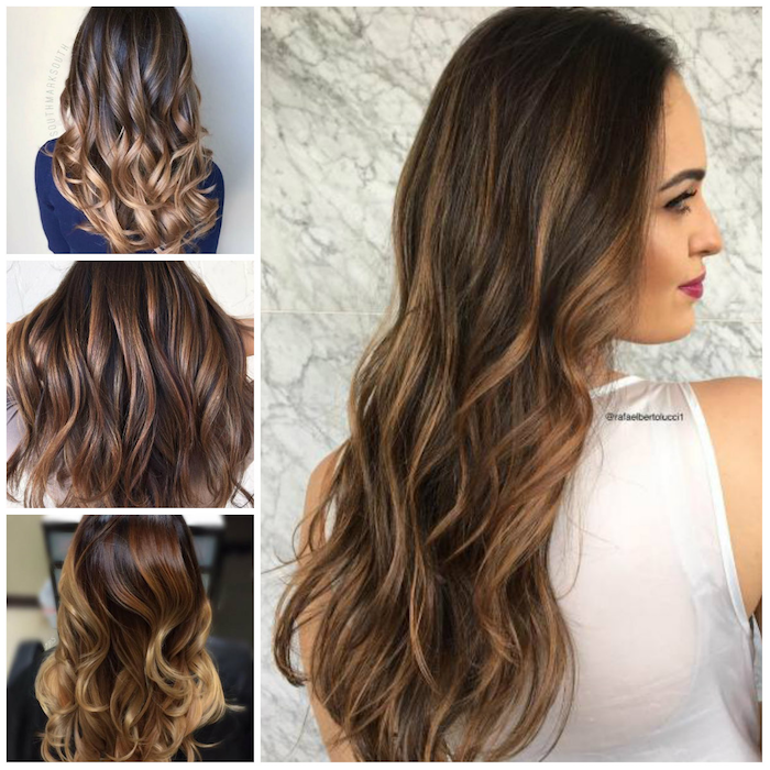 ombre brown blond four ideas for beautiful women's hair curls with the curling iron