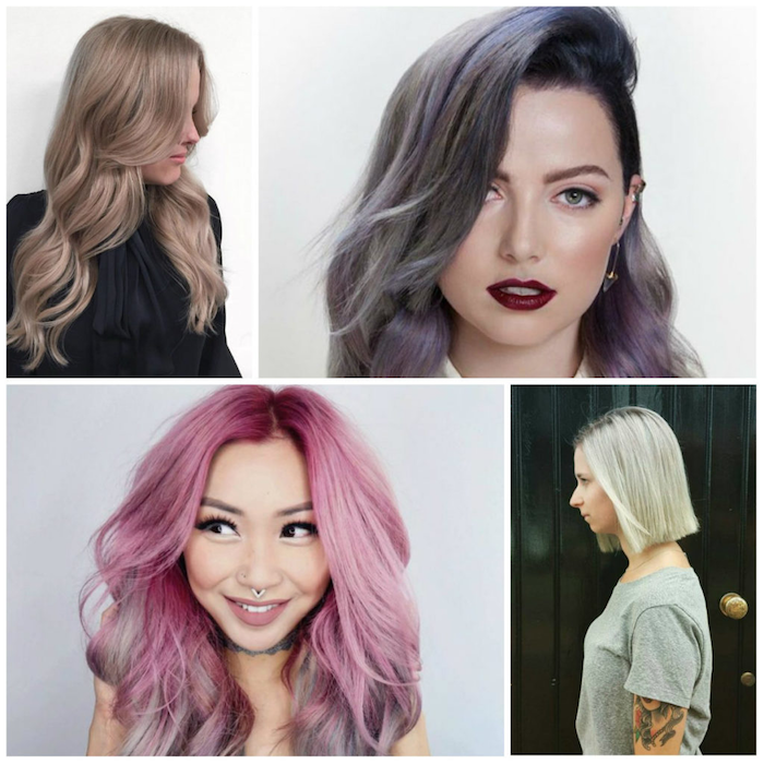 ombre brown ombre pink blonde and purple different colors look great in teens