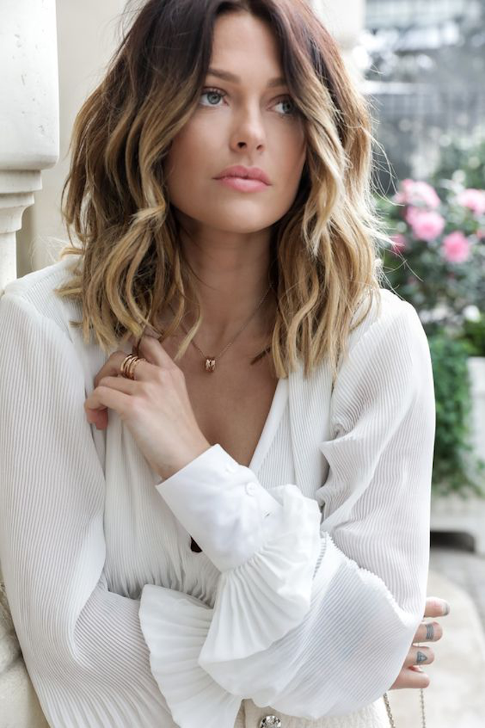 ombre blond hairstyle for medium-long and short hair effective and beautiful ideas