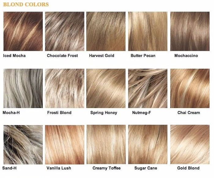 light shade, blonde shade, blonde hair color, types of blonde