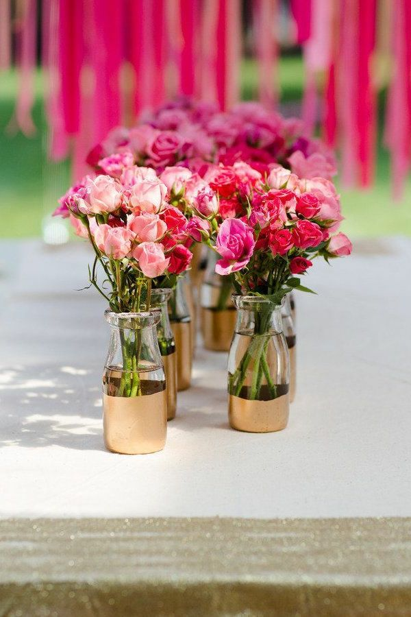 Blumendeko-by-the-garden-party deco-ideas - tischdeko-with-flowers