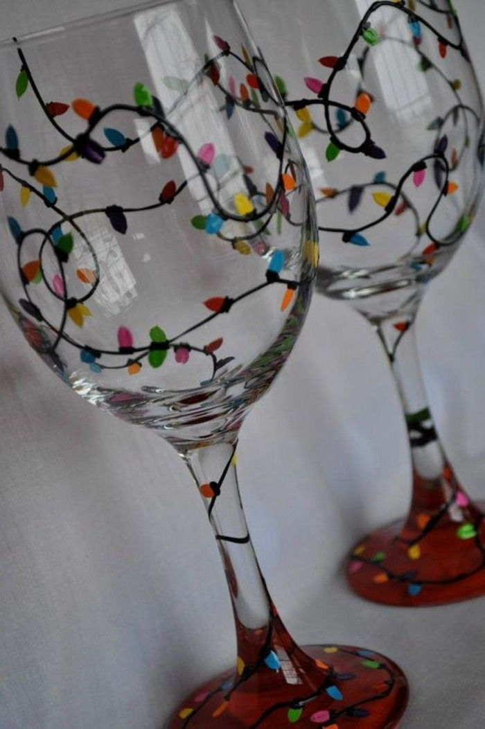 cool-colored Decoration for red wine glasses