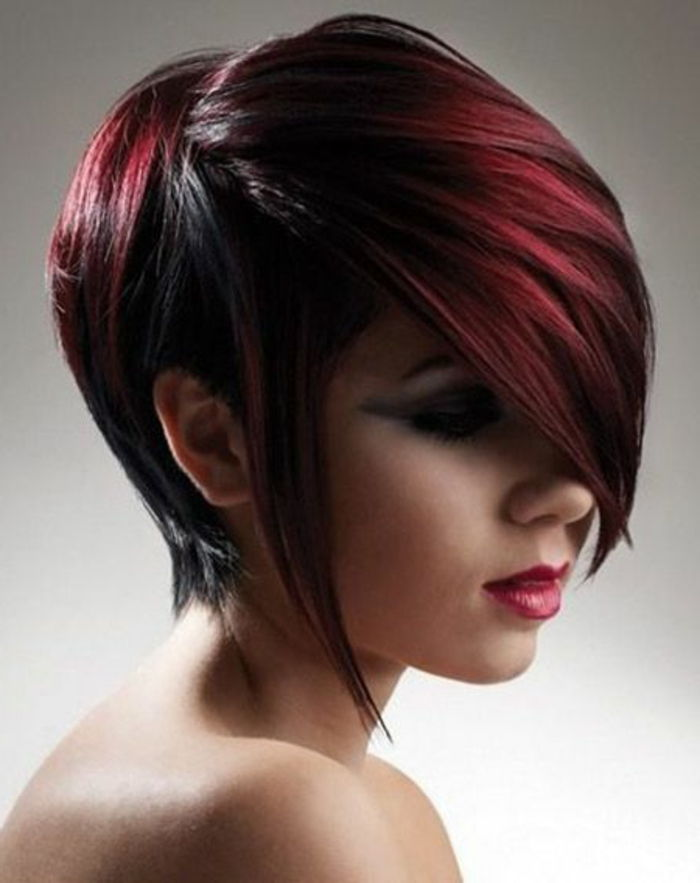 dark red-hair-short and super-chic